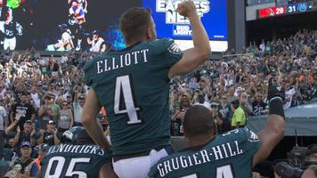 nfl: philadelphia, atlanta, new england & chicago win in dramatic style