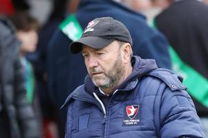 cheltenham town manager gary johnson ahead of mansfield town at home