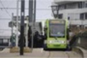 Terrorism search conducted after man boards tram in Croydon with...