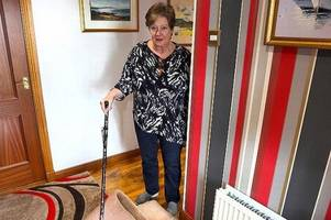 pensioner told to pay to have old carpet binned because of wheelchair-bound son