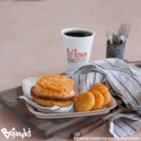 A Two Buck Breakfast is Available All Day Every Day at Bojangles'®, Including for a Limited Time the All-New Pork Chop Griller Biscuit for $1.99