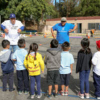 Volunteers from Los Angeles Dodgers and UnitedHealthcare Unveil New Walking Path at Allesandro Elementary School