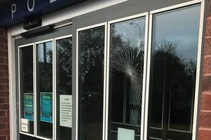 man, 30, charged after brick hurled through police station window