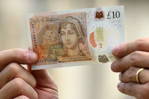 how to tell if your tenner is worth thousands after new £10 plastic note goes for £3,600