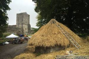 medieval village created at mugdock castle for robert the bruce film outlaw king
