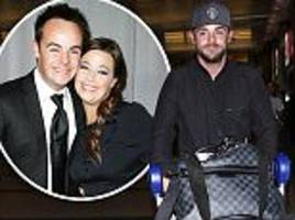 ant mcpartlin 'continues his recovery during la trip'