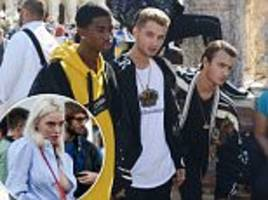 jude law and p diddy's sons shoot d&g campaign in venice