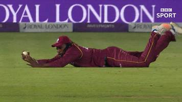 england v west indies: brilliant chris gayle catch gives alzarri joseph fifth wicket