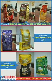 INDIASTAR and SIES SOP STAR Packaging Excellence Awards 2017 for Uflex