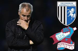 gillingham interim manager peter taylor pleased with his side's performance against scunthorpe united