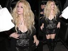 avril lavigne wears very racy dress on 33rd birthday in la