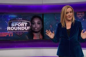samantha bee exposes hypocrisy in anti-kneeling sentiment: 'you need a therapist' (video)