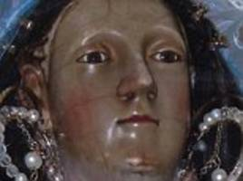 virgin mary statue 'started crying' after earthquake