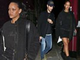 rihanna enjoys a 2am chinese dinner with hassan jameel