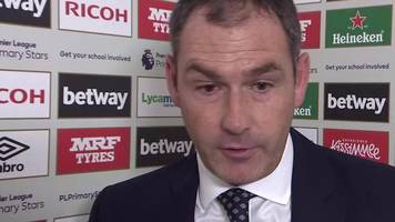 west ham 1-0 swansea: paul clement expects better from swans attackers