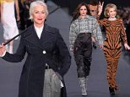 helen mirren and jane fonda strut their stuff for l'oreal