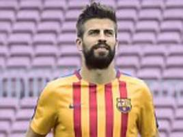 gerard pique in tears at violent clashes in barcelona
