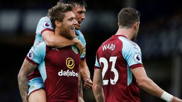 burnley win at everton to go sixth