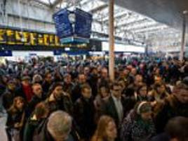 london train and tube strikes set to cause a week of chaos