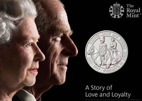 new special edition platinum coins celebrate the queen and duke of edinburgh's 70th wedding anniversary