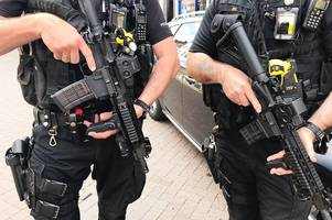 armed police called as men produce imitation gun and machete in restaurant row