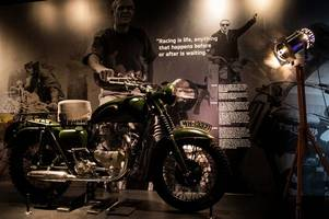 steve mcqueen bike from great escape is star of the new £4m hinckley triumph factory experience