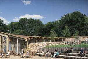 foundations of new £5 million visitor centre at sherwood forest laid