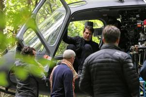 exclusive: first picture of hollywood actor tom cruise filming mission impossible in brentwood