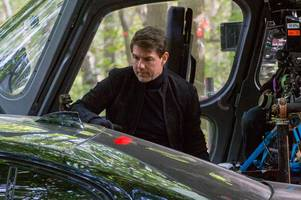 tom cruise in brentwood: photos show star filming mission impossible 6