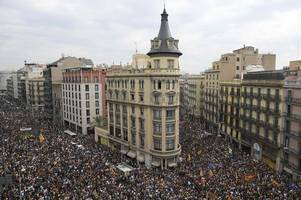catalonia crisis continues as people take to streets during general strike