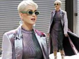 katy perry is futuristic chic for american idol filming