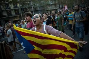bristol woman describes being caught up in huge barcelona protests