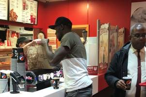 world's fastest man usain bolt 'spotted at kfc restaurant in bristol'