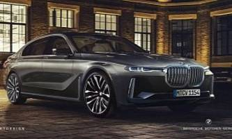 New BMW 7 Series Rendered with X7 iPerformance Concept Details Looks Majestic