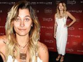 paris jackson shows off hippie flair at hollywood event