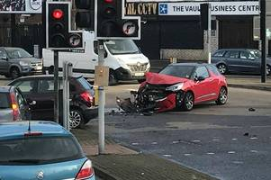 junction of stratford road and coventry road blocked after crash