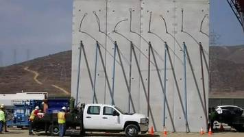 Trump's prototypes for Mexico border wall appear