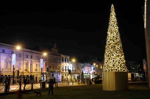 controversial cardiff christmas tree has been scrapped after only a year