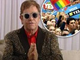 elton john supports same-sex marriage vote yes campaign