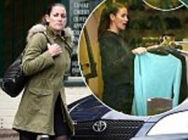 kirsty gallacher cleans charity shop on community service