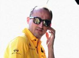 robert kubica given williams test as comeback continues