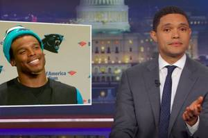 trevor noah finds the silver lining in cam newton's sexist remark (video)