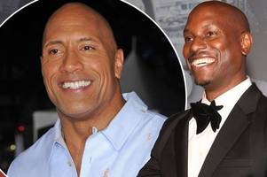 tyrese gibson slams dwayne the rock johnson over fast spin-off