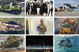 discover the story of the james bond and london 2012 helicopter which had its first flight in somerset 30 years ago