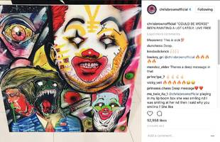 Chris Brown's New Painting Completely Symbolizes Donald Trump '17