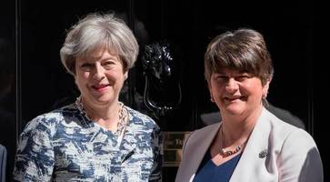 determined and calm theresa may must carry on as prime minister, says dup leader arlene foster