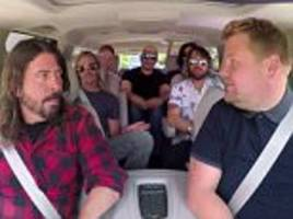 the foo fighters say carpool karaoke was 'uncomfortable'