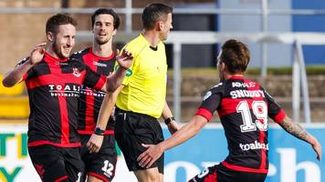 crusaders & queen of the south win in cup