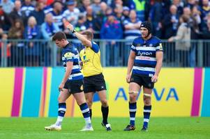 match report: bath rugby survive freddie burns red card to see off worcester warriors
