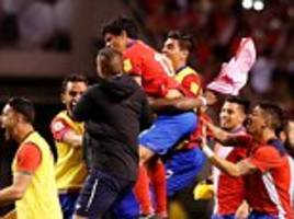 costa rica celebrate qualification to the 2018 world cup